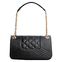 Buy Mango Quilted Shoulder Handbag, Black Online at johnlewis.com