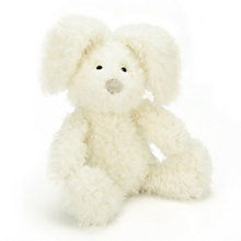 Buy Jellycat Fluffity Small Bunny, White Online at johnlewis.com