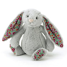 Buy Jellycat Small Blossom Bunny, Silver Online at johnlewis.com