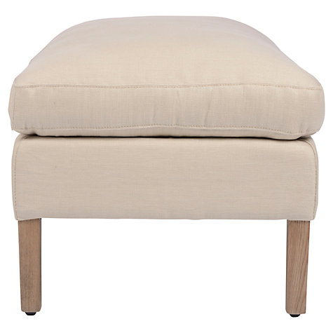 Buy Halo Groucho Footstool, Linen Online at johnlewis.com