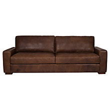 Buy Halo Harvard Large Leather Sofa, Brown Online at johnlewis.com