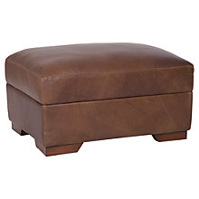 Buy Halo Harvard Leather Footstool, Brown Online at johnlewis.com