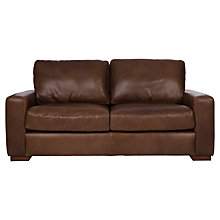Buy Halo Harvard Medium Leather Sofa, Brown Online at johnlewis.com