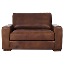 Buy Halo Harvard Leather Loveseat, Brown Online at johnlewis.com