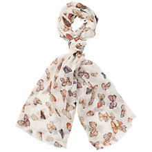 Buy Fat Face Bright Butterfly Print Scarf Online at johnlewis.com