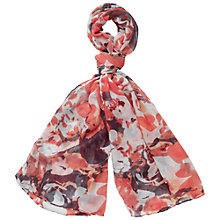 Buy Fat Face Abstract Floral Print Scarf, Orange Online at johnlewis.com