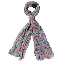Buy Fat Face Busy Floral Print Scarf, Light Moss Online at johnlewis.com
