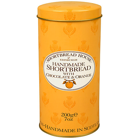 Buy Shortbread Chocolate Orange Shortbread Tin, 200g Online at johnlewis.com