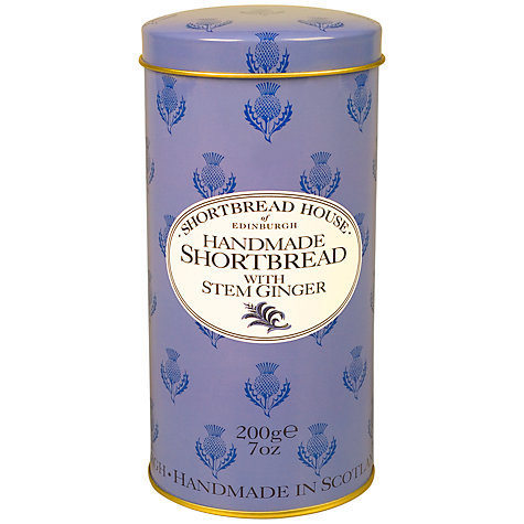 Buy Shortbread House Stem Ginger Shortbread Tin, 200g Online at johnlewis.com