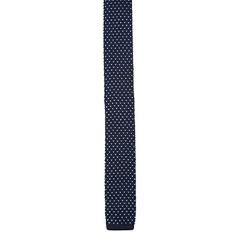 Buy Ben Sherman Tailoring Birdseye Knitted Tie, Peacoat Blue Online at johnlewis.com
