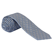 Buy John Lewis Made in Italy Spot Print Tie, Brown Online at johnlewis.com
