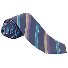 Buy Eton Multi Stripe Tie, Navy/Purple Online at johnlewis.com