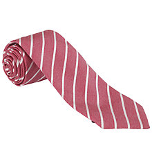 Buy John Lewis Made in Italy Narrow Stripe Tie Online at johnlewis.com