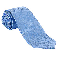 Buy John Lewis Tonal Paisley Silk Tie, Blue Online at johnlewis.com