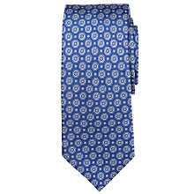 Buy John Lewis Octagon Print Tie, Blue/Yellow Online at johnlewis.com