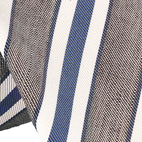 Buy John Lewis Made in Italy Club Stripe Tie, Blue Online at johnlewis.com