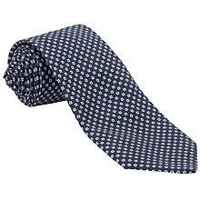 Buy John Lewis Made in Italy Mini Square Print Tie, Navy/White Online at johnlewis.com