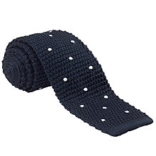 Buy John Lewis Knitted Dot Silk Tie Online at johnlewis.com