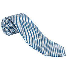 Buy John Lewis Made in Italy Trellis Print Tie, Blue/White Online at johnlewis.com