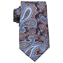 Buy Eton Paisley Print Silk Tie, Purple Online at johnlewis.com