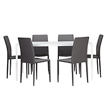 Buy John Lewis Glacier 6 Seater Dining Set Online at johnlewis.com