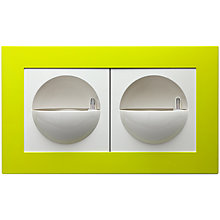 Buy Elho Gallery Double Wall Plant Pot Decoration, Green Online at johnlewis.com
