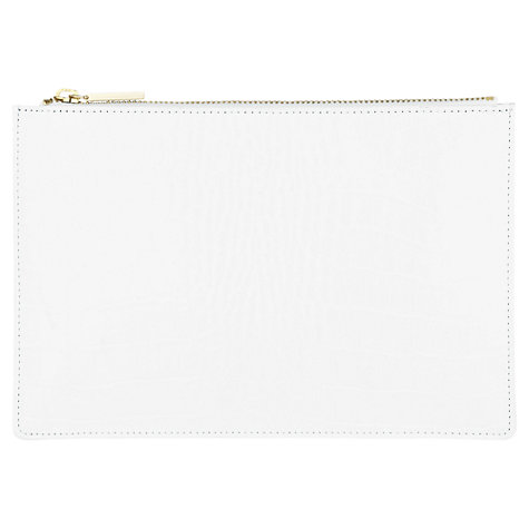 Buy Whistles Small Mock Croc Clutch Handbag, White Online at johnlewis.com