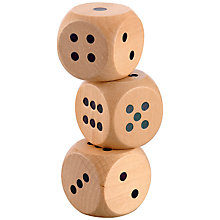 Buy Jaques Triple 6cm Wooden Dice Online at johnlewis.com