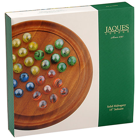 "Buy Jaques 15"" Grand Mahogany Wooden Solitaire Online at johnlewis.com"