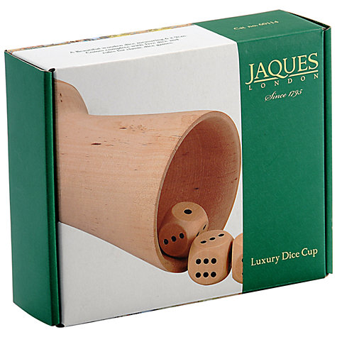 Buy Jaques Luxury Wooden Dice Cup Shaker Online at johnlewis.com