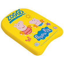 Buy Zoggs Peppa & George Pig Kickboard, Yellow Online at johnlewis.com