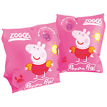 Buy Zoggs Peppa Pig Armbands, Pink Online at johnlewis.com