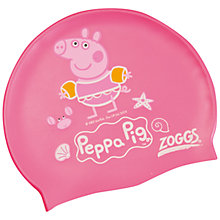 Buy Zoggs Peppa Pig Swim Cap, Pink Online at johnlewis.com