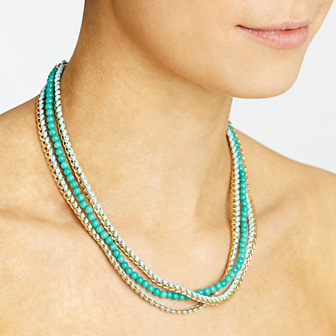 Buy John Lewis Multi Row Chain Bead Necklace Online at johnlewis.com