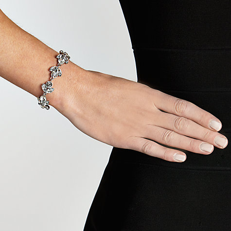 Buy John Lewis Crystal Leaf Allway Bracelet, Silver Online at johnlewis.com