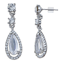Buy John Lewis Crystal Triple Drop Earrings, Silver Online at johnlewis.com
