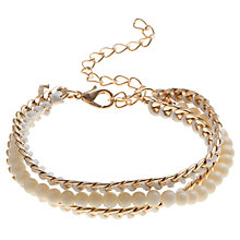 Buy COLLECTION by John Lewis Multi Row Chain Bead Bracelet Online at johnlewis.com