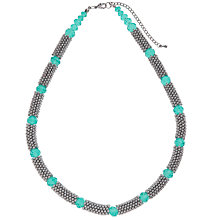 Buy John Lewis Textured Bead Faceted Glass Necklace Online at johnlewis.com