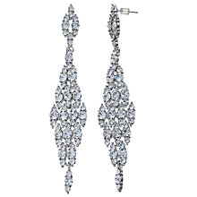 Buy John Lewis Long Crystal Waterfall Effect Stud Earrings, Silver Online at johnlewis.com