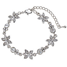 Buy John Lewis Crystal Flower Allway Bracelet, Silver Online at johnlewis.com
