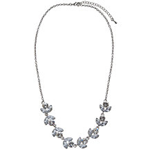 Buy John Lewis Crystal Leaf Statement Necklace, Silver Online at johnlewis.com