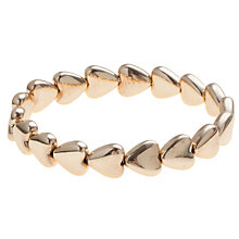 Buy John Lewis Fat Heart Stretch Bracelet, Gold Online at johnlewis.com