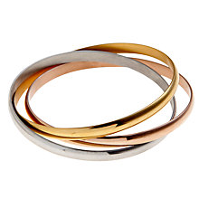 Buy John Lewis Emelie Triple Plated Stack Bangle Online at johnlewis.com