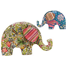 Buy One Button Elephant Brooches, Two Pack Online at johnlewis.com
