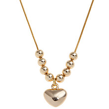 Buy John Lewis Heart and Ball Pendant, Silver Online at johnlewis.com