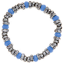 Buy John Lewis Coronation Glass Crystal Bracelet, Blue Online at johnlewis.com