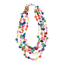Buy One Button Five Line Wooden Discs Sequin Statement Necklace, Multi Online at johnlewis.com