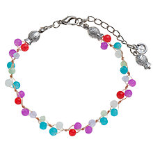 Buy One Button Short Mini Stones Bracelet Online at johnlewis.com
