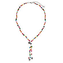 Buy One Button Beaded Y Shaped Necklace Online at johnlewis.com