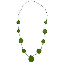 Buy One Button Long Facet Teardrop Necklace, Green Online at johnlewis.com